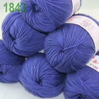 Sale 6x50gr Balls Soft Cashmere Silk wool Hand Knitting DK Baby Crochet Yarn 43