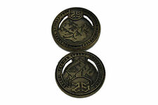 "Norse Foundry RPG D20 Adventure Coins -""25"" Gold Piece Set of 10 - Dwarven Style"