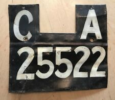 """RARE! 1930'S  CAPE OF GOOD HOPE  SOUTH  AFRICA LICENSE PLATE  """" CA 25522 """""""