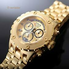 Invicta Subaqua Reserve Swiss Retrograde Chrono 500m 18k Gold IP 52mm Mens Watch