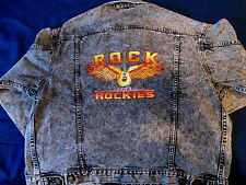 """ROCK THE ROCKIES"" DENIM JACKET BY VANTAGE CLUB - SIZE MEDIUM - 100% COTTON"