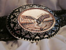 Handmade/Handcrafted Silver/Copper Bonus:2.999 Bars$ American Eagle Belt Buckle,