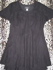 SZ 16 MOLLY MALLOY Black Formal Dress Tie Back Butterfly Sleeves Dual Layers