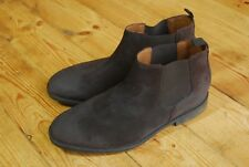 Men's Dark Brown Suede Chelsea Ankle Boots by Clarks UK 9.5