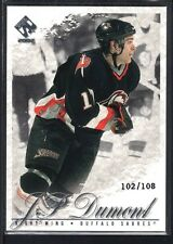 J. P. DUMONT 2001/02 PRIVATE STOCK #10 BUFFALO SABRES SP #102/108