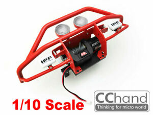 CC HAND METAL front Bumper RC4WD 1/10 TF2 Mojave with lights winch(RED)limited