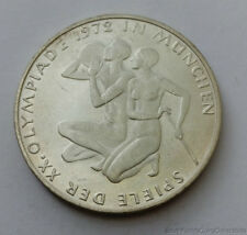1972-G Olympic Germany 10 Mark Uncirculated .625 Silver Coin