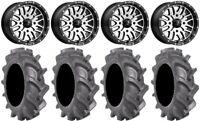"MSA Machined Brute 14"" UTV Wheels 30"" BKT AT 171 Tires Polaris RZR Turbo S / RS1"