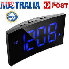 5 Inch Digital Alarm Clock Radio LED Table Office Snooze 12 Or 24 Hour Display