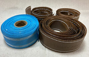 Vintage Lawn Chair Replacement Webbing Lot! Sky Blue & Brown, Plastic