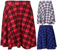 Casual Check Skirts Plus Size for Women