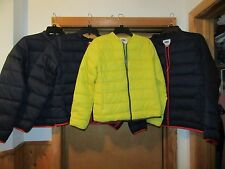 Old Navy Jackets Puffer L,M,S Dark Navy Blue and Yellow 100% nylon filling polye