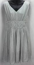 Julia Jordan Dress 14 Large Fit Full Polka Dot V-Neck Sleeveless Women 4286