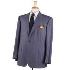Nuevo con Etiqueta Brioni Pizarra Azul-Gris Rayas Year-Round Lana Suit Eu 50 R (