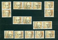 Bund Block 18 - Alle Kombinationen + Einzelmarken , o ,