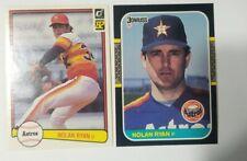 New listing Nolan Ryan 1982 Donruss And 1987 Donruss.  Excellent Cond.