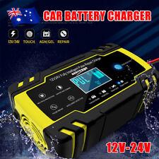 12V/24V 8A Smart Car Battery Charger LCD Automatic Repair 4WD Boat Caravan Truck