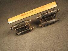 2 Antique Bommer Double Action Spring Loaded Hinges Restoration Hardware USA