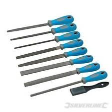 Silverline Metal Hand File & Rasp Tool Set 9pce Engineering Tools Coarse & Fine