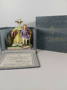 """Royal Worcester Limited Edition Of 500 No.84 Figurine """"Charlotte And Jane"""""""