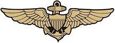 NAVY AVIATOR WINGS US NAVAL AVIATION LOGO BUMPER STICKER TOOLBOX STICKER LAPTOP