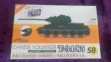 Cyber Hobby/Dragon 1:35 T-34/85 w/Chinese Volunteers Model Kit #9158 SEALED BAGS