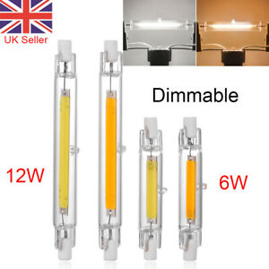 Dimmable 78mm 118mm R7s COB LED Bulbs Security Flood Replaces Halogen Bulb 6/12W