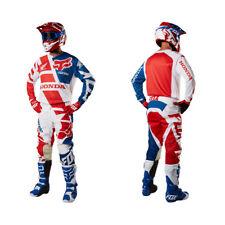 Fox Racing 180 Motocross MX Kit Pantaloni Maglia - Honda Rosso Bianco Blu