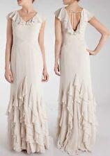 Coast Veronica Maxi Dress Wedding Bridesmaid 8 £180 NEW Ruffle Champagne Silk