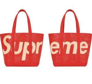 Supreme Raffia Tote Bag - Red - *BRAND NEW DEADSTOCK*