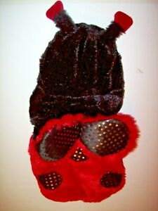 COSTUME Fuzzy Soft Ladybug Halloween Red/ Black for Pets Dress Up Dog S Small