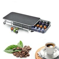 40 Pod Coffee Capsule Holder Storage Stand Chrome Tower Mount Rack For Nespresso