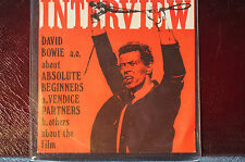 Rare David Bowie Interview Absolute Beginners Holland 7in Ltd Ed of 500 Sleeve