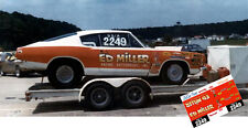 CD_MM_036 Ed Miller   1968 Plymouth Baracuda    1:18 scale decals   ~NEW~