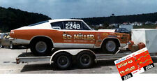 CD_MM_036 Ed Miller   1968 Plymouth Baracuda    1:25 scale decals   ~NEW~