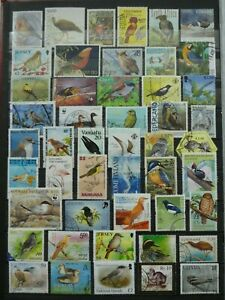 COLLECTION OF GOOD/ FINE POSTALLY USED MODERN BIRD STAMPS.