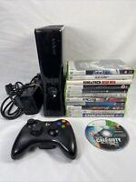 Microsoft Xbox 360 250GB Slim Console Bundle - 12 Games - 1 Wireless Controller