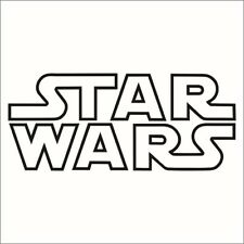 STAR WARS Outline Logo Sticker Decal - Choose Color and Size - Force Jedi, Sith