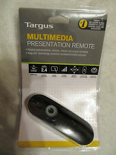 Targus Multimedia Presentation Remote - Presenter - Laser - Schwarz
