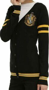 Harry Potter Hufflepuff Crest Cardigan Sweater (Juniors Sizing)
