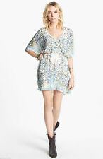 Free People BEST SELLER Sparks Fly Cape Mini Dress Sz M $168 Retail Ivory