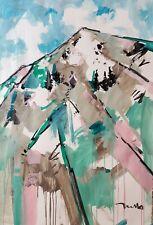 "JOSE TRUJILLO Mountain Expressionism Abstract 30x40"" Large Modern Acrylic Art"