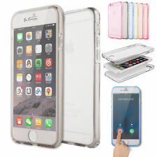360 Full Body Clear Silicone Gel Dual Case Cover For iPhone 8 7 6 5 4 S Plus SE