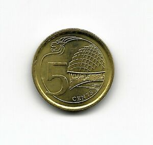 World Coins - Singapore 5 Cents 2018 Coin KM# 345 ; Lot-S2