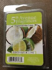5th Avenue Fragrances Wax Cubes 6 Cubes Coconut & Lime NIP