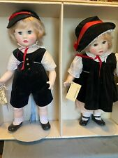 Suzanne Gibson Twin Dolls Paul & Pauline 1984 Signature Edition 22inch tall
