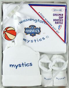 WNBA Newborn Baby Washington Mystics Vintage Boxed Four Piece Gift Set