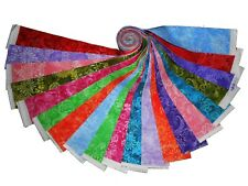 """20 2.5"""" Quilting Fabric Jelly Roll WOF Beautiful Batik Tonals  !!!!!"""