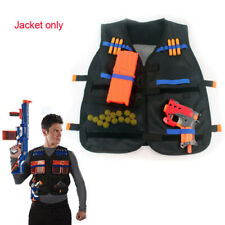 New Black Water Tactical Vest Jacket For Nerf N-Strike Elite Toys Bullets Holder