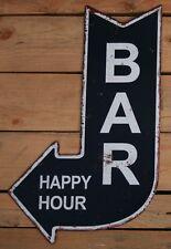 Blechschild BAR Happy Hour Dekoschild Pfeil Ausgang Nostalgie 248 Vintage 40 cm